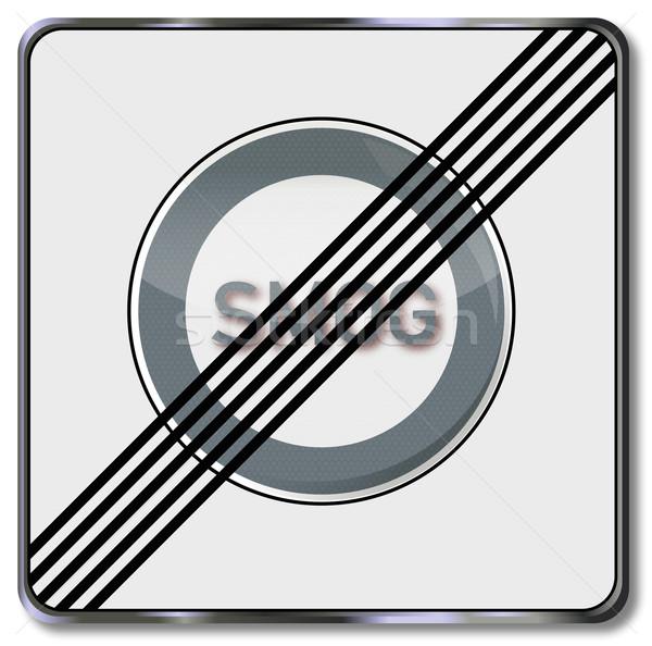 Közlekedési tábla szmog orvos felirat forgalom benzin Stock fotó © Ustofre9