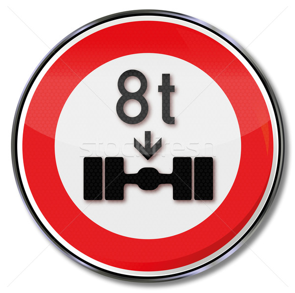 Traffic sign permissible axle weight up to 8 tons Stock photo © Ustofre9
