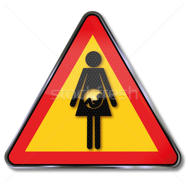 Sign woman with baby and pregnancy  Stock photo © Ustofre9