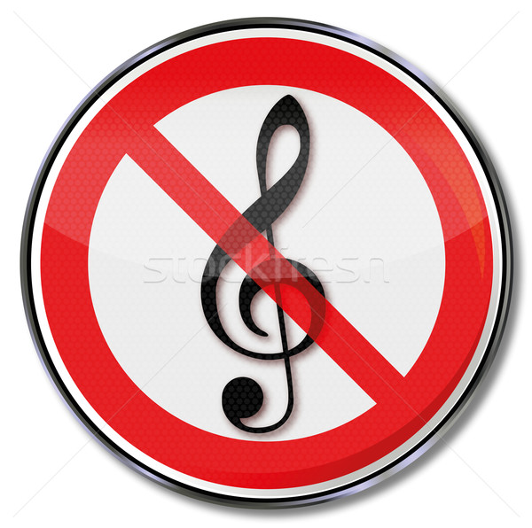 Prohibition sign for music  Stock photo © Ustofre9