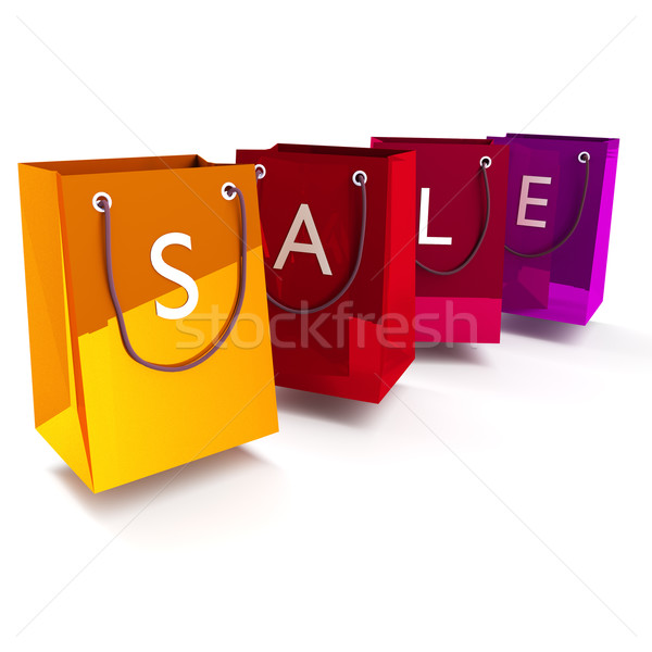 Shopping bags with sale Stock photo © Ustofre9