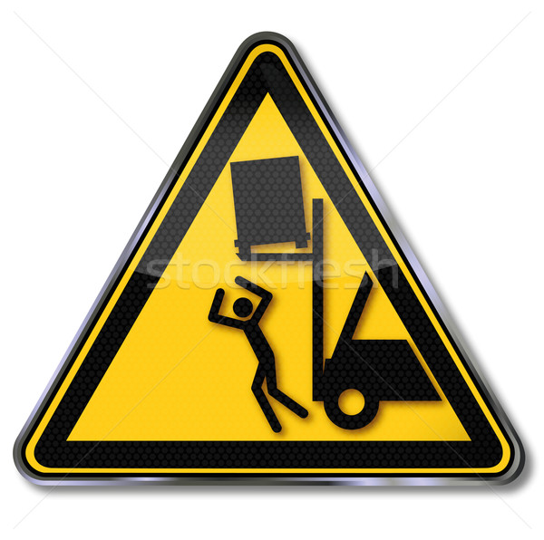 Beware of objects falling from forklifts Stock photo © Ustofre9