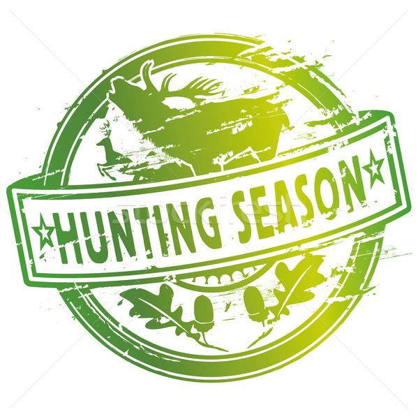 Rubber stamp hunting season Stock photo © Ustofre9