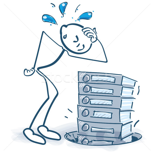Stick figure loses the files in a hole Stock photo © Ustofre9