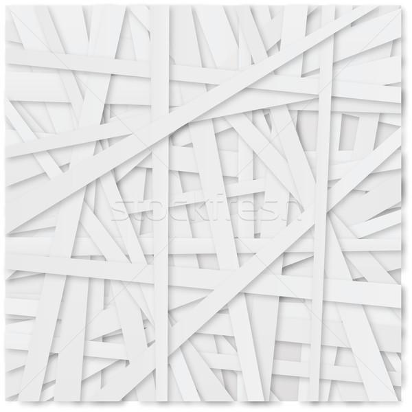 Witte papier partij gelukkig abstract Stockfoto © Ustofre9