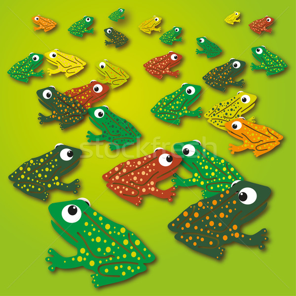 Ornament frogs on the green meadow  Stock photo © Ustofre9