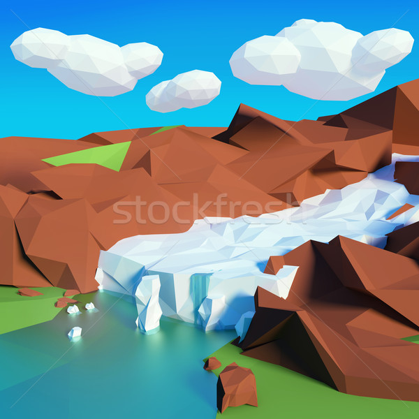 Glacier in the mountains Stock photo © Ustofre9