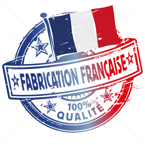 Rubber stamp fabrication francaise Stock photo © Ustofre9