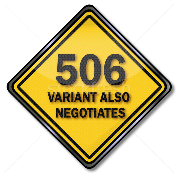 Stock photo: Computer plate 506 variant also negotiates