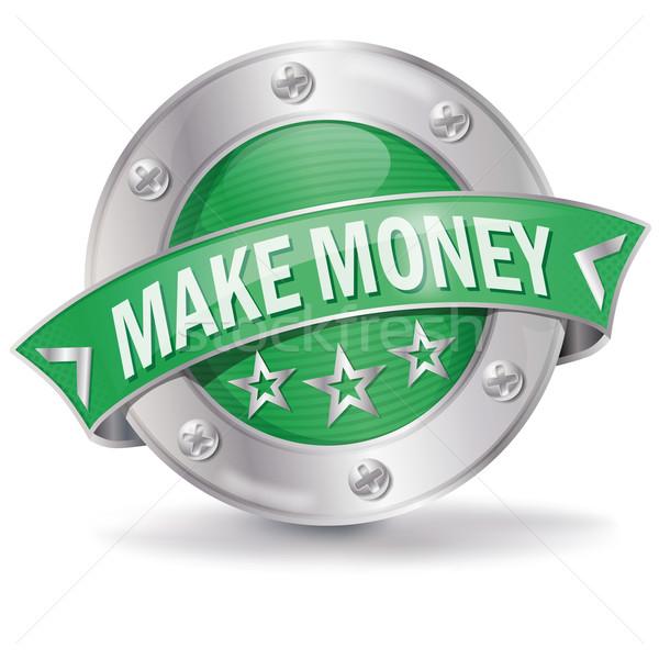 Gomb gyártmány pénz internet vásárlás szolgáltatás Stock fotó © Ustofre9