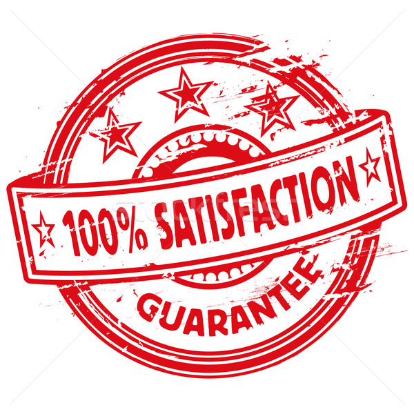 Rubber stamp one hundred percent satisfaction Stock photo © Ustofre9