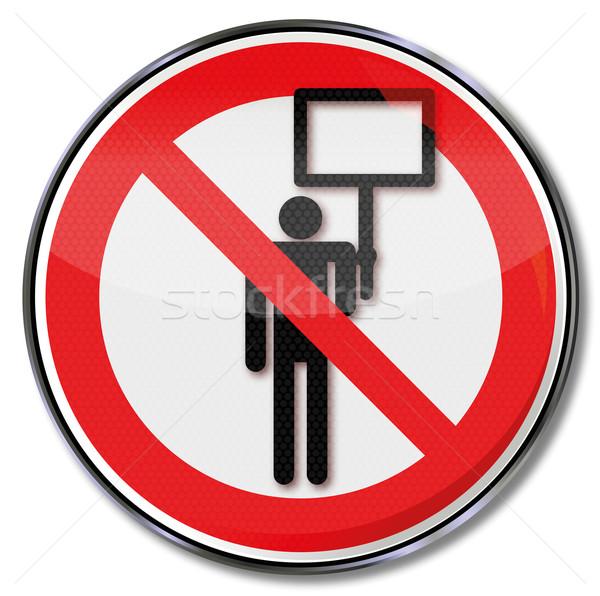 Divieto segno pubblicità vietare business uomo Foto d'archivio © Ustofre9