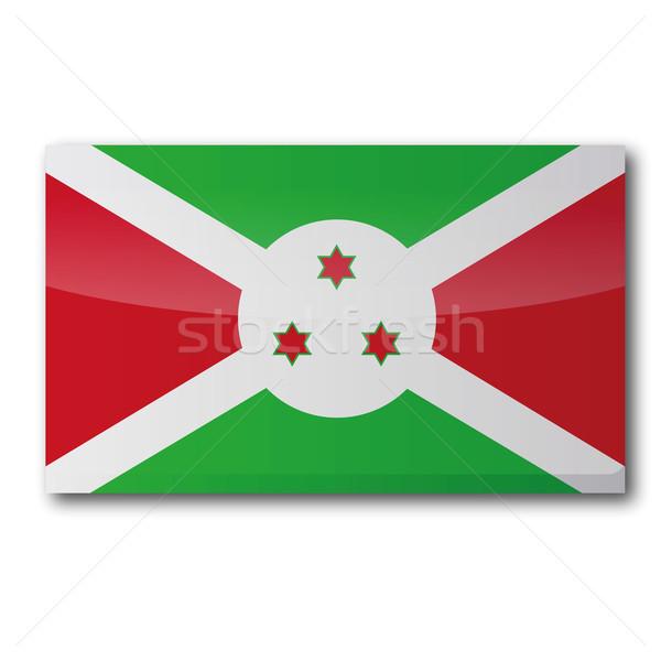Bandeira Burundi mapa país botão política Foto stock © Ustofre9