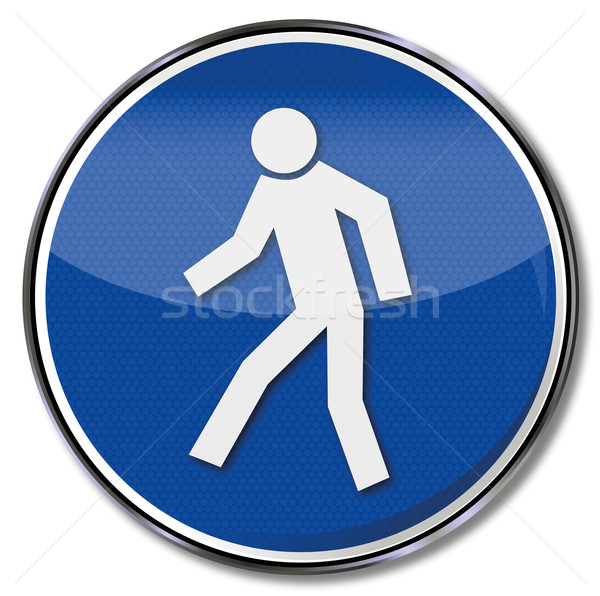 Safety sign free and safe for pedestrians Stock photo © Ustofre9