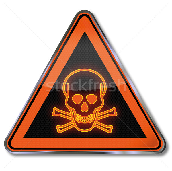 Warning sign danger, death and poison Stock photo © Ustofre9