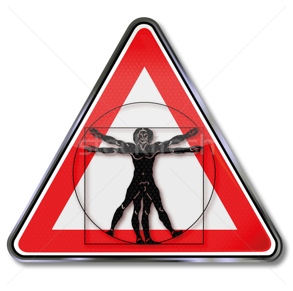 Sign man in a circle and proportions Stock photo © Ustofre9