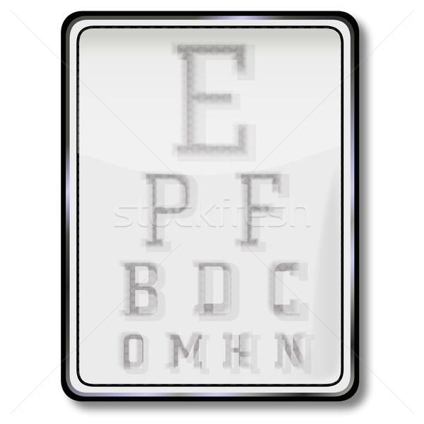 Shield eye test Stock photo © Ustofre9