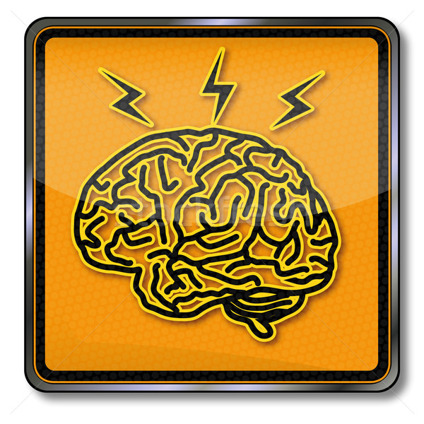 Sign brain, inspiration and headache Stock photo © Ustofre9
