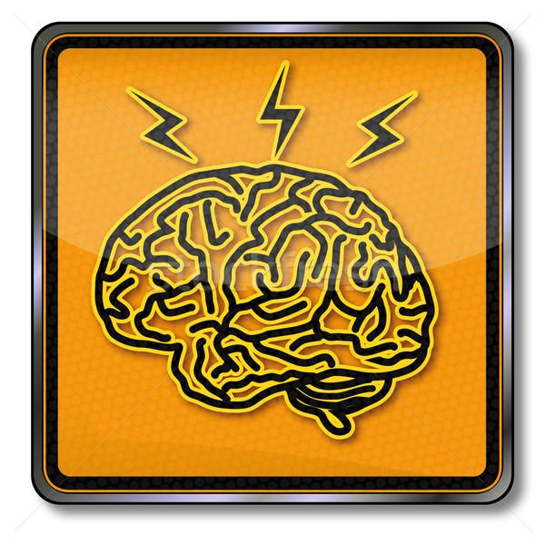 Imzalamak beyin ilham baş ağrısı alan ağ Stok fotoğraf © Ustofre9