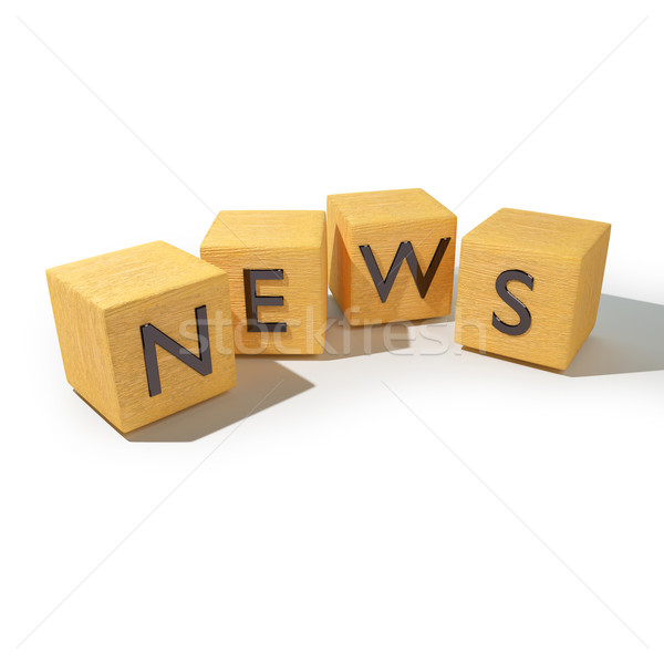 Wooden dice with news  Stock photo © Ustofre9