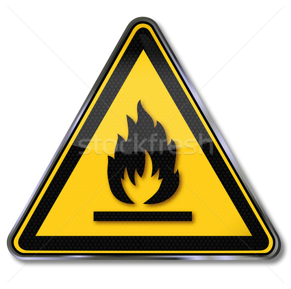 Danger sign warning sign flammable materials  Stock photo © Ustofre9