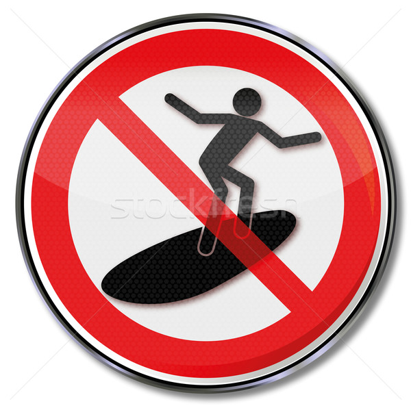 Prohibition sign for surfers Stock photo © Ustofre9