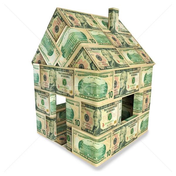 Huis 10 geld straat metaal Stockfoto © Ustofre9