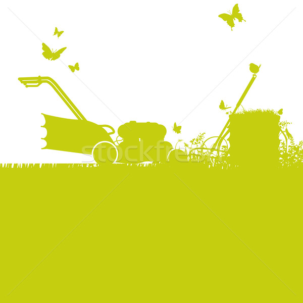 Lawn mower and gardening Stock photo © Ustofre9