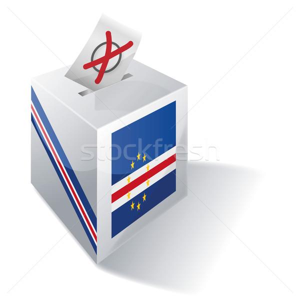 Stock photo: Ballot box Cape Verde