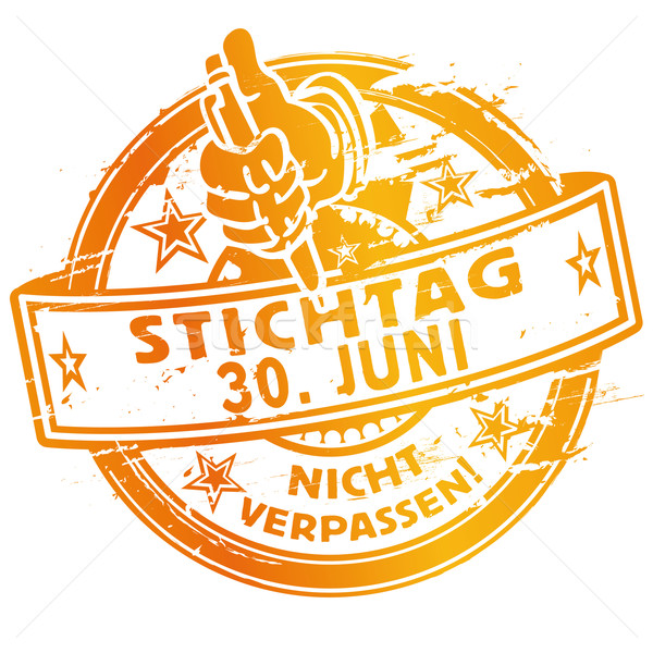 Rubber stamp of the Deadline June 30 Stock photo © Ustofre9