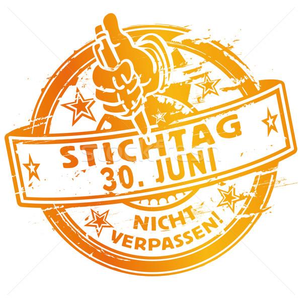 Rubber stamp of the Deadline June 30 Stock photo © Ustofre9