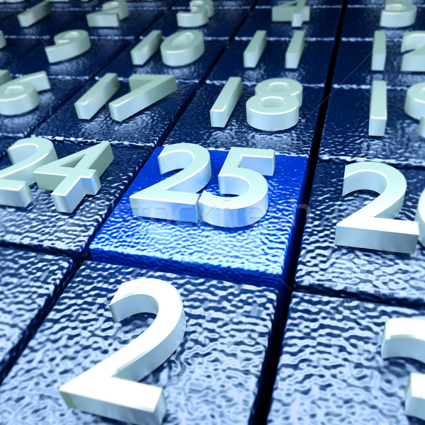 Twenty-fifth calendar day Stock photo © Ustofre9