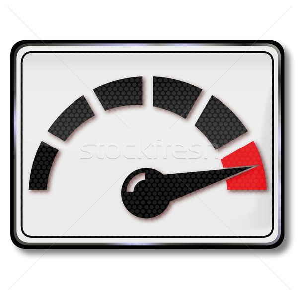 Sign consumption indicator and tachometer Stock photo © Ustofre9