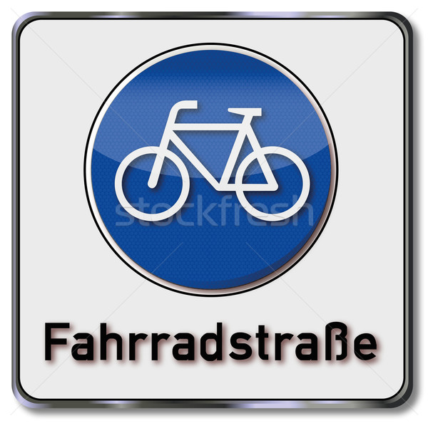 Traffic sign bicycle road Stock photo © Ustofre9
