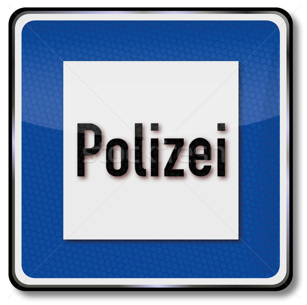 Traffic sign police Stock photo © Ustofre9