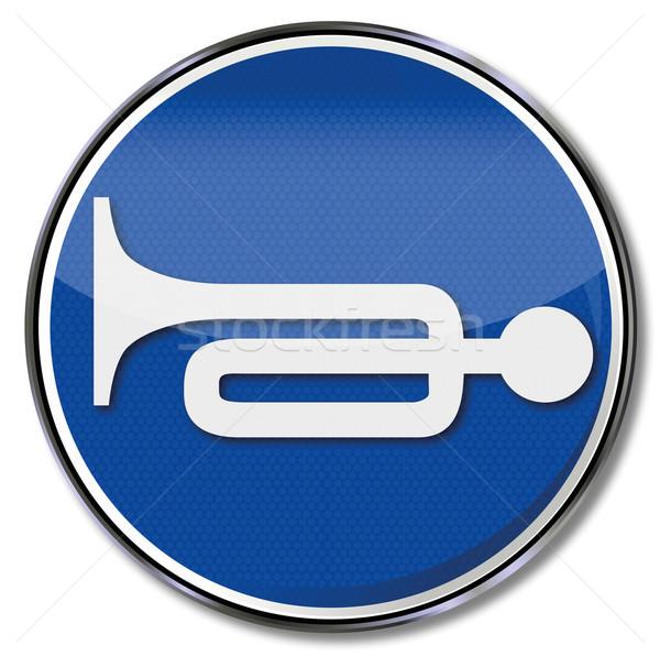 Felirat trombita duda zaj törvény alszik Stock fotó © Ustofre9