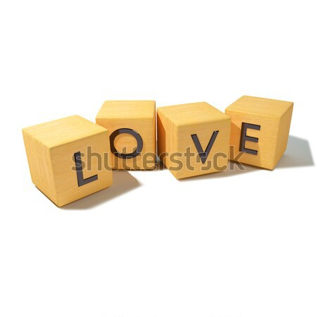 Wooden dice with new  Stock photo © Ustofre9