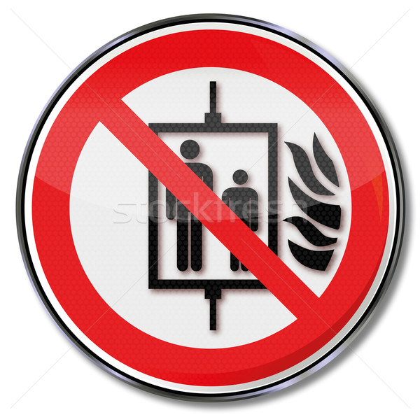 Prohibition sign do not use elevator in case of fire  Stock photo © Ustofre9