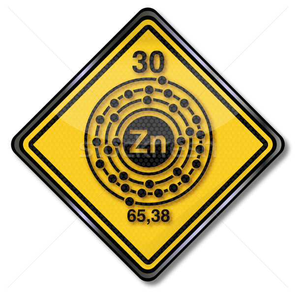 Sign chemistry character zinc Stock photo © Ustofre9