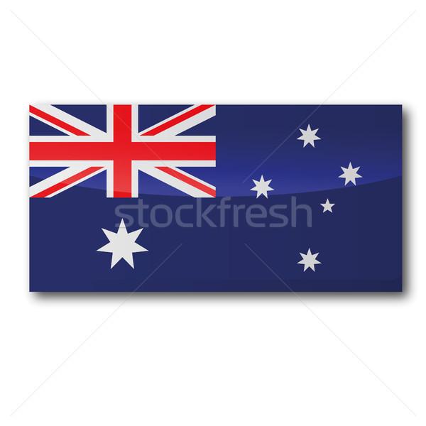 флаг Австралия воды карта океана звездой Сток-фото © Ustofre9