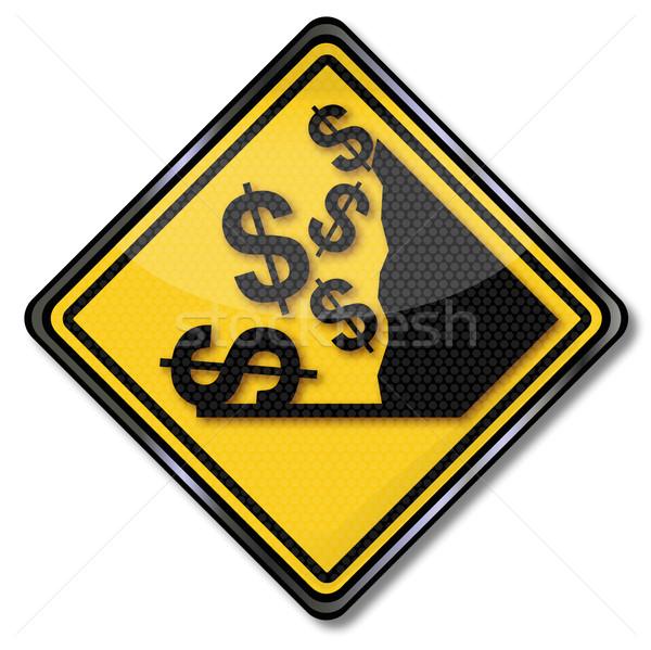 Sign dollar and crash Stock photo © Ustofre9