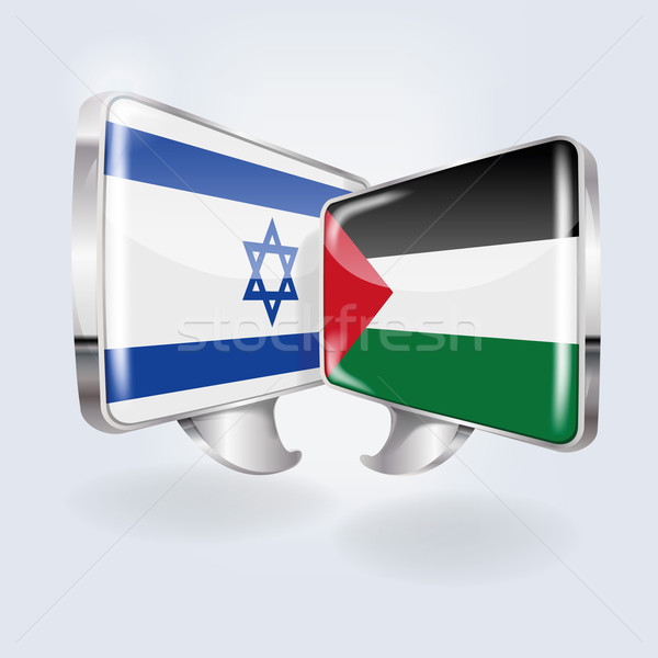 Speech in Israeli and Palestinian Stock photo © Ustofre9