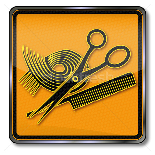 Stock photo: Sign for hairdressers