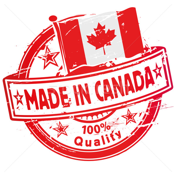 Stock photo: Rubber stamp made in Canada