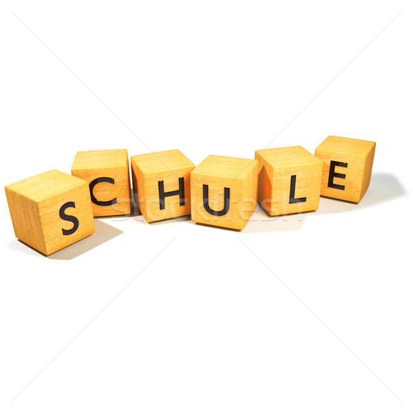 Dice and school Stock photo © Ustofre9