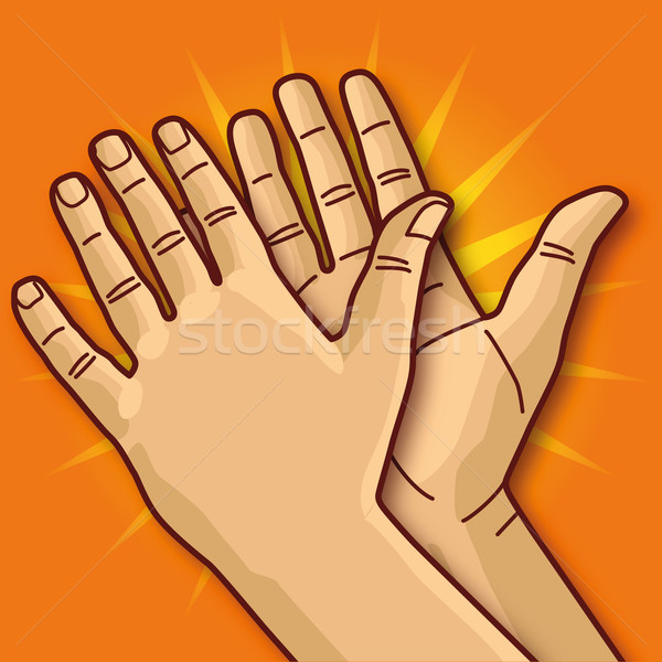 Two hands clapping and applause Stock photo © Ustofre9