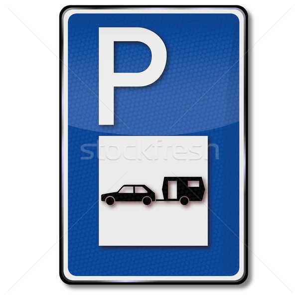 Parking for caravans Stock photo © Ustofre9