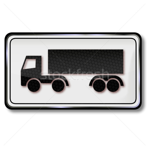 Traffic sign logistics, trucks and semi-trailers Stock photo © Ustofre9