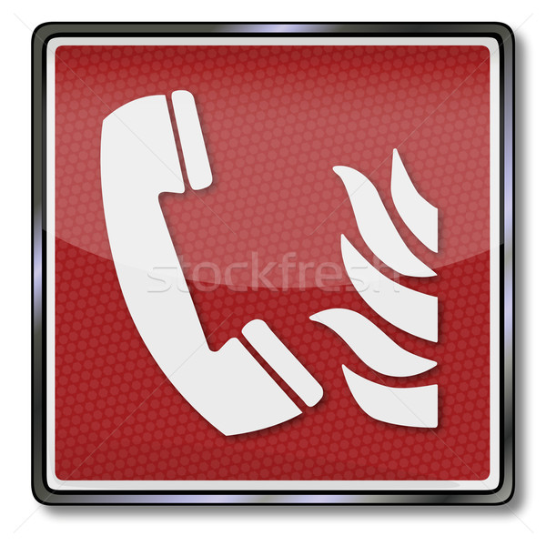 Fire safety sign fire telephone Stock photo © Ustofre9
