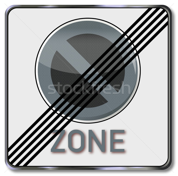 Traffic sign repeal of parking zone Stock photo © Ustofre9